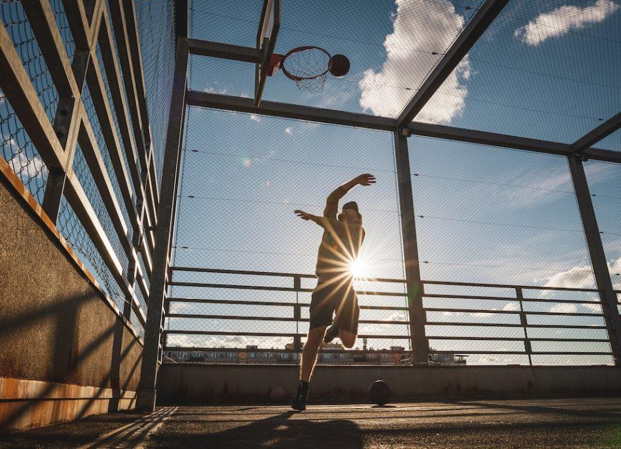 Basketbalové hřiště na střeše