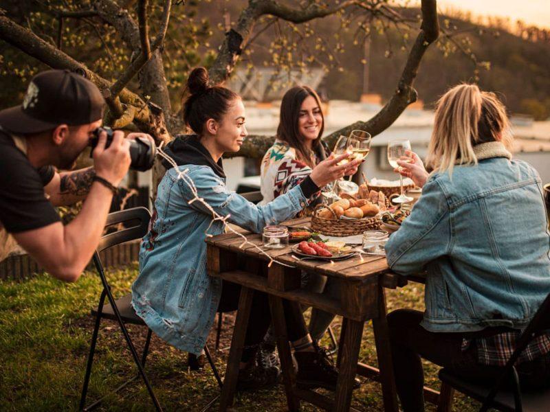 Lifestyle fotografování vín - produktová fotografie